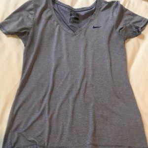 Women's Nike Dri Fit V-Neck Tee-M